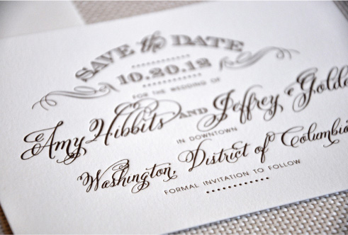 Letterpress Save the Date by  Haute Papier
