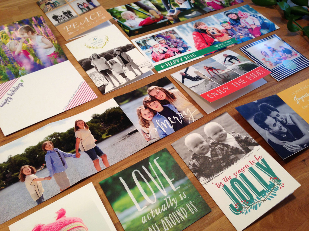 folded holiday cards give you a little extra space for your favorite photos