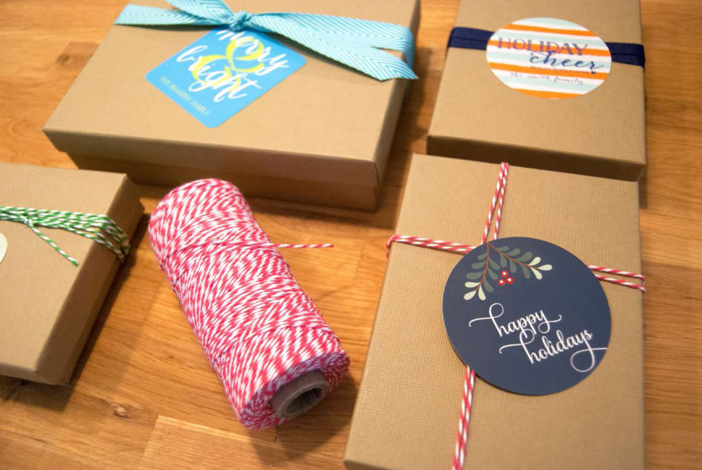 personalized holiday stickers make gift giving a cinch