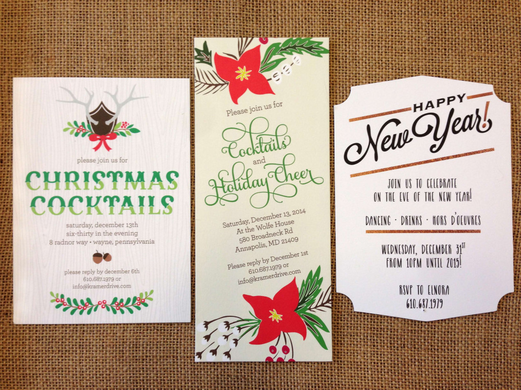 remember - snail mail rules and email drools! choose from tons of great invitation designs for this year's holiday party