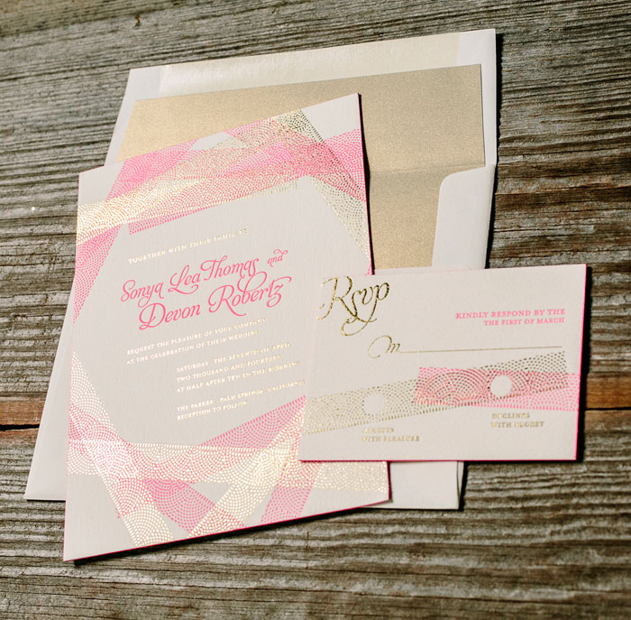 New Washi features vibrant pink script, romantic lace patterning, and regal gold text