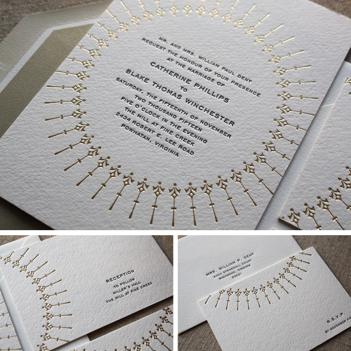 Free Letterpress Wedding Invitations, La Jolla & San Diego