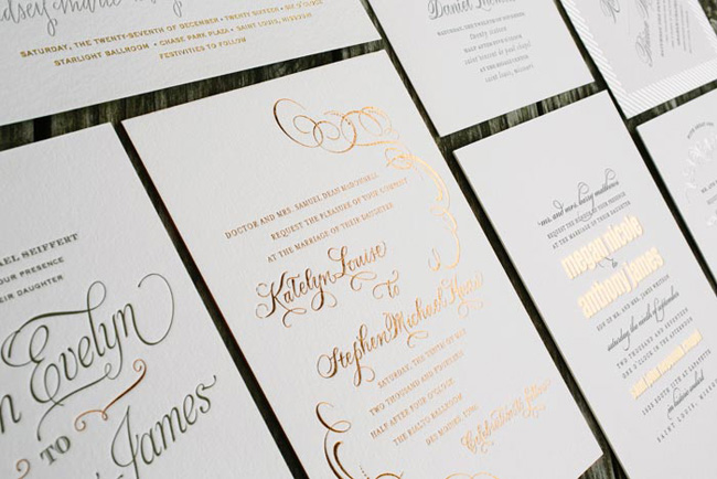 Letterpress Wedding Invitations San Diego