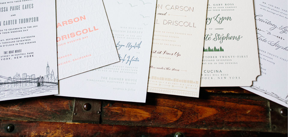 Wedding Invitation Designs by Courtney Jentzen are 10% off in September!