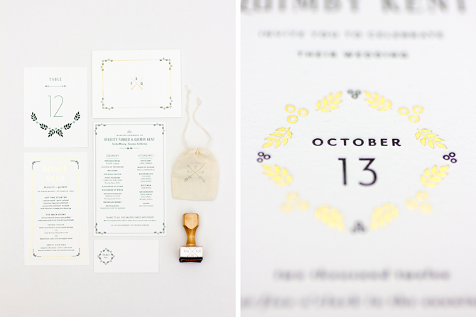 quimby is available with coordinating menus, programs, table numbers, place cards and personal stationery