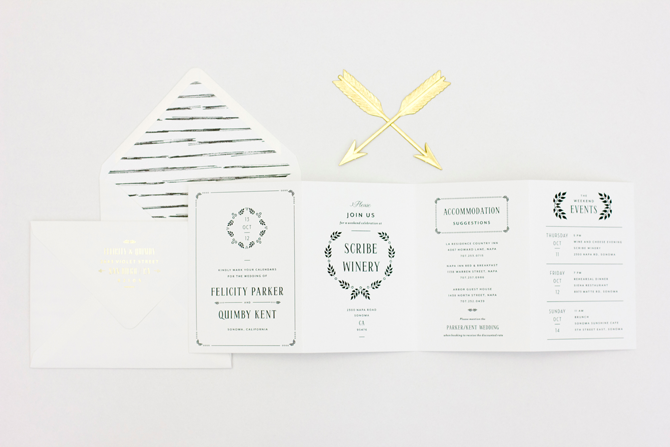 an accordion fold save the date is a great way to give your guests the 411 on your big day