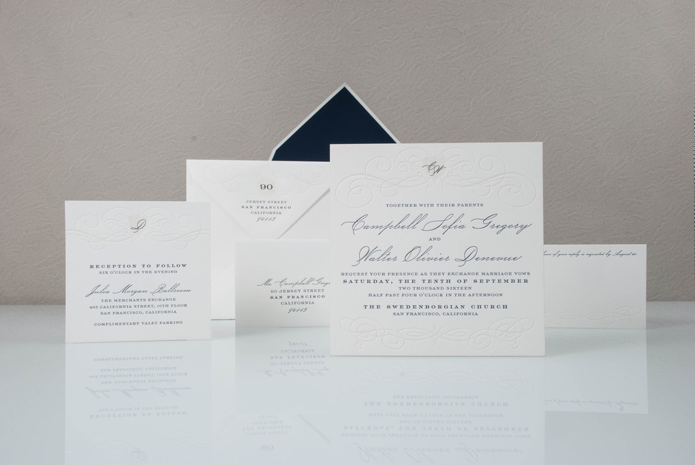Superior Campbell Letterpress_Wedding Invitation San Diego