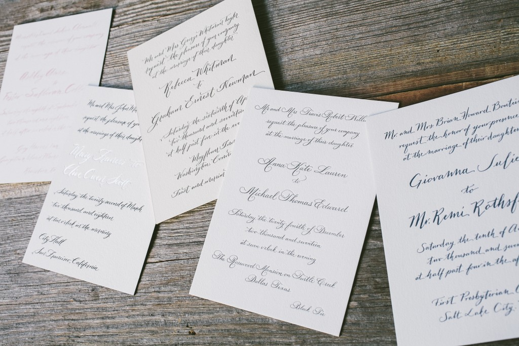 Letterpress and Calligraphy, Oh My!