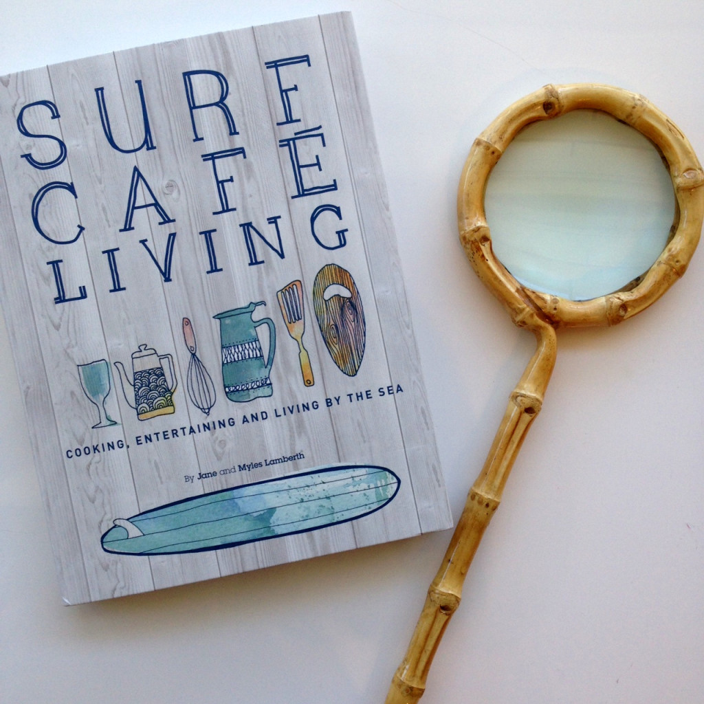 Cafe Surf Living Book by Lamberth, Bamboo Magnifier by Two's Company