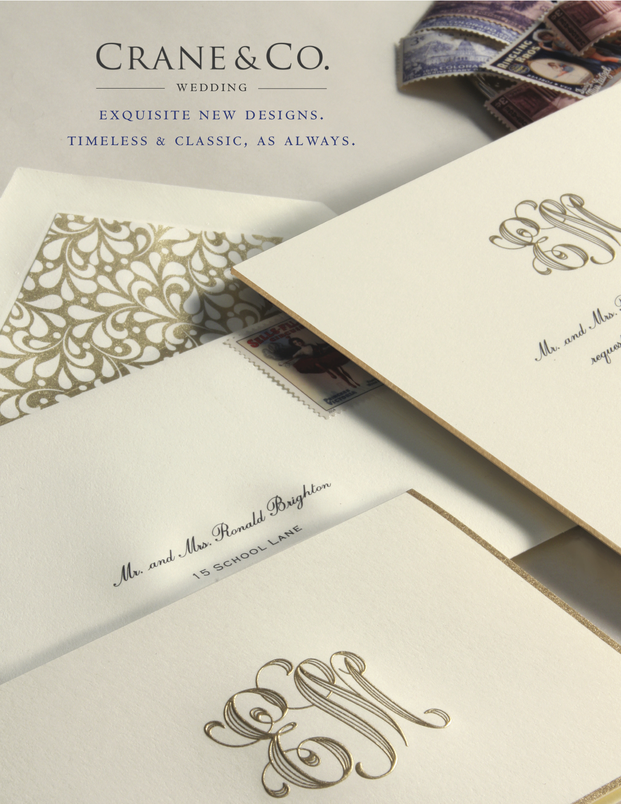 New Wedding Invitations from Crane & Co | Sweet Paper