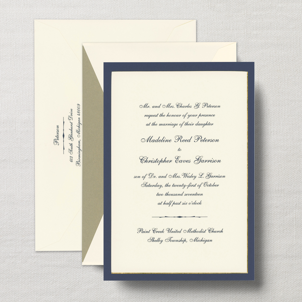 Formal Wedding Invitations San Diego