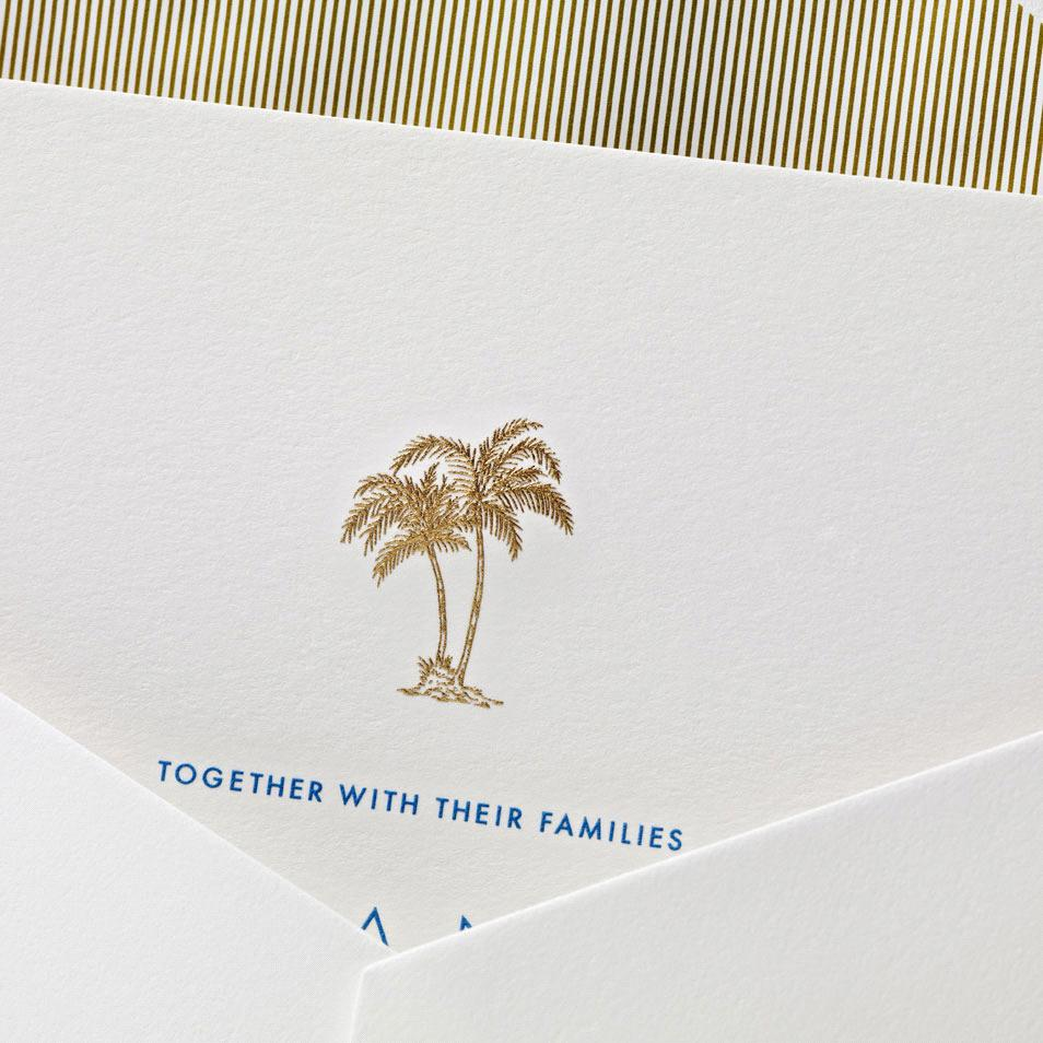 Tropical Wedding Invitations San Diego