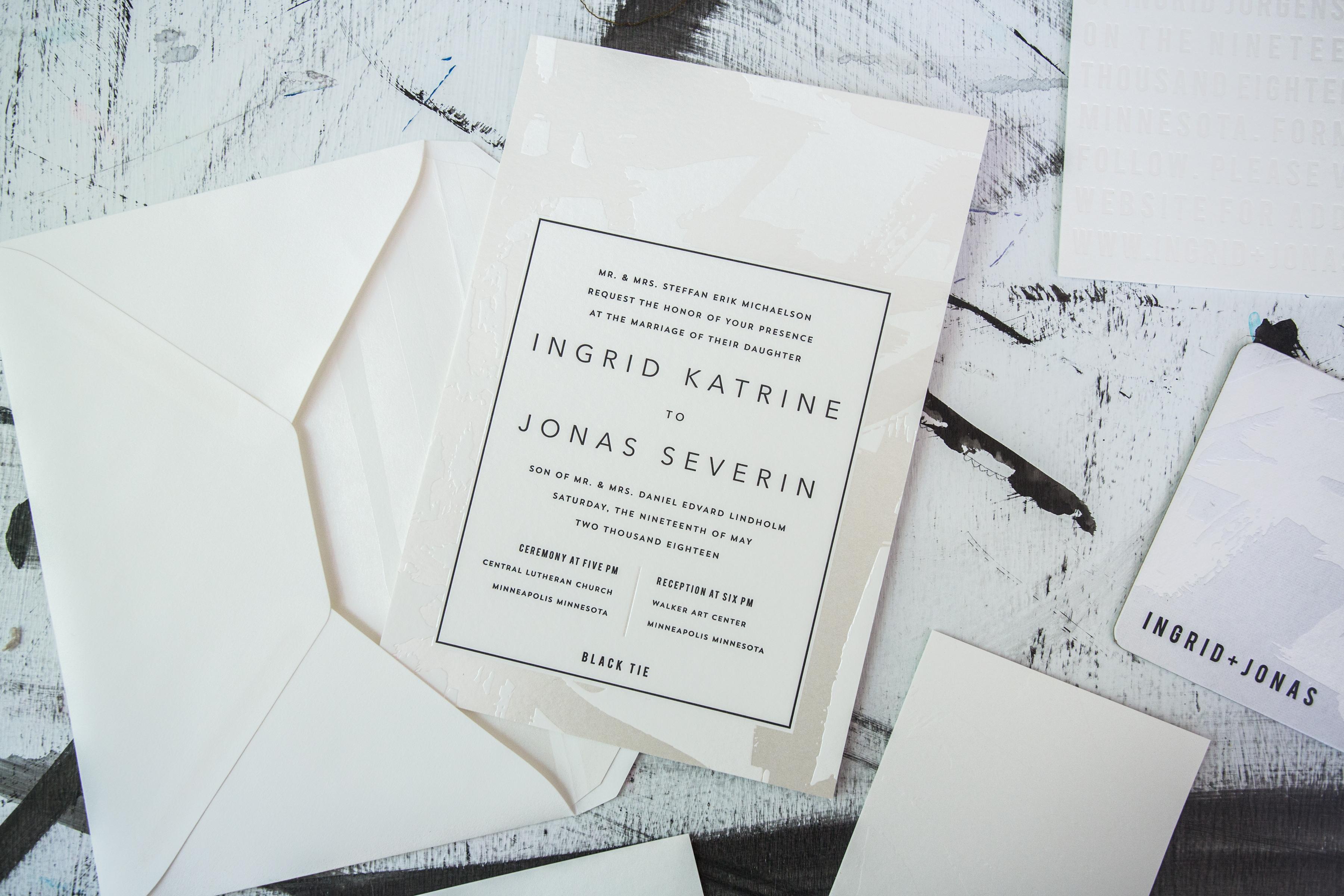 Meet Flynn: A Modern Wedding Invitation Suite | Sweet Paper