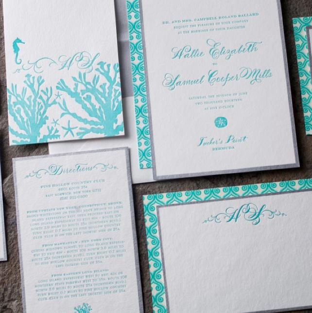 Seaside and Nautical Wedding Invitations
