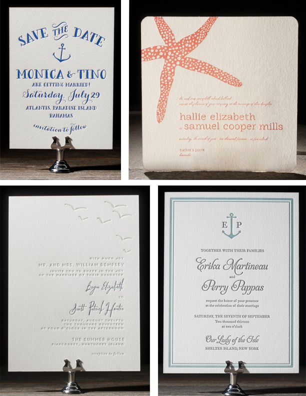 Seaside and Nautical Wedding Invitations | Sweet Paper