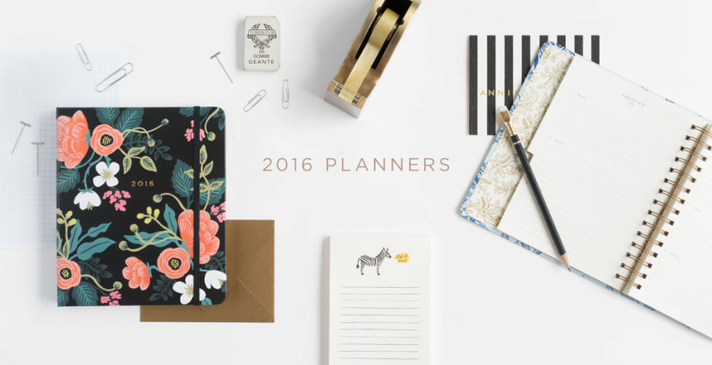 New at the Shop: Rifle Paper Co. 2016 Planners