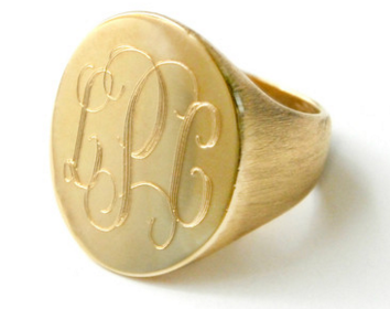 Boyfriend Signet Ring Available in Gold Overlay, Sterling Silver, 14K Yellow Gold, Rose Gold, or White Gold