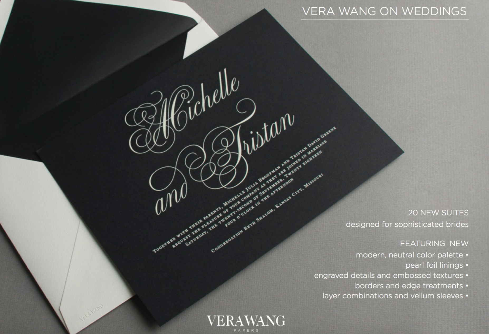 Vera Wang Wedding Invitations Sweet Paper