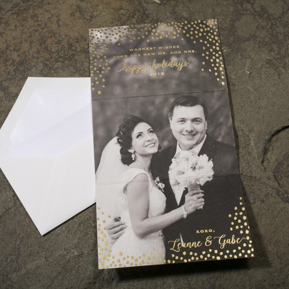 Use Your Wedding Photos on Custom Holiday Cards!