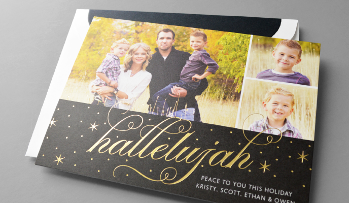 on sale now custom holiday cards sweet paper