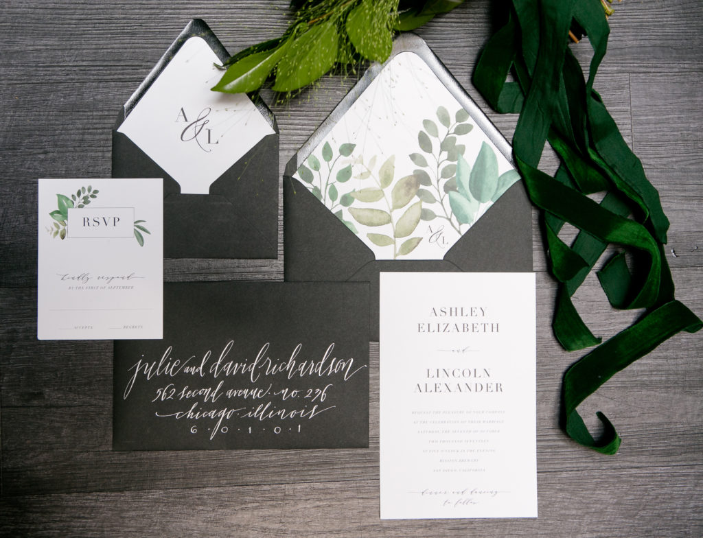 Brand new Modern Organic Wedding Invitations | Sweet Paper AF04